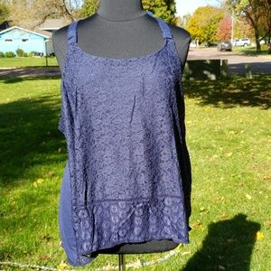 Maurices plus halter style with lace tank top